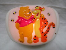 Winnie the Pooh & Tigger Disney Night Light for Baby Crib 1997 Works Great!