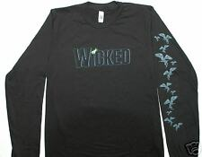 WICKED Black Long Sleeve  SMALL Tee Shirt -  NEW