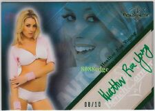 2011 BENCHWARMER LIMITED AUTO: HEATHER RAE YOUNG #8/10 GREEN AUTOGRAPH PLAYBOY