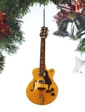 """HOLLOW BODY ELECTRIC GUITAR 5"""" MUSICAL INSTRUMENT CHRISTMAS ORNAMENT OGB12BR"""