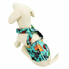 Dog Diaper Male BELLY BAND Reusable Washable With SUSPENDERS Fleece DINOSAUR