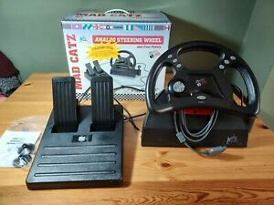 Retro Mad Catz Analogue Steering Wheel & Pedals For PlayStation PS1 Untested