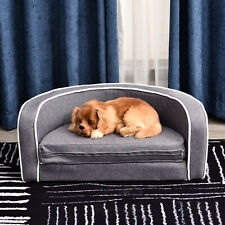 Pawhut Pet Sofa For Small&Medium Sized Dog Cat Lounge Bed Extend Cushion Couch