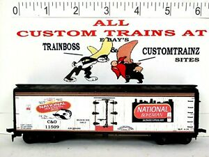 HO CUSTOM LETTERED NATIONAL BOHEMIAN BEER FREIGHT CAR COLLECTIBLE REEFER LOT E