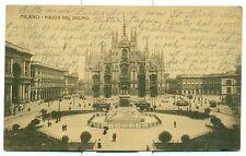 MILANO Piazza del Duomo - Viaggiata 1905 Animata con tram
