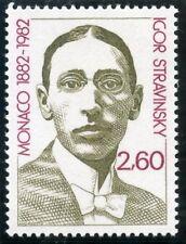STAMP / TIMBRE DE MONACO N° 1346 ** LES ARTS / COMPOSITIEUR IGOR STRAVINSKY