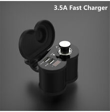 Car Motor aluminum voltage cigarette lighter dual usb mobile phone charger 3.0A