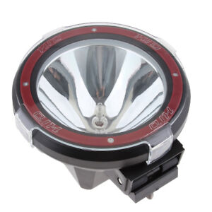 7'' 100W Trailers HID XENON Driving Lights Spot Work Lamp 4WD Truck 12V Red