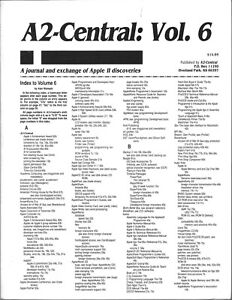 A2-Central Newsletter, Volume 6, Apple II II+ IIe IIc IIgs