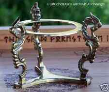 Brass Dragons Crystal Ball Stand for Larger Gemstone Spheres, Eggs