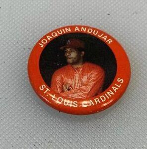 1984 Fun Foods Baseball Button Pin # 90 Joaquin Andujar St Louis Cardinals