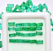 3.02 Cts Natural Emerald Baguette Cut 4x2 mm Lot 25 Pcs Green Loose Gemstones