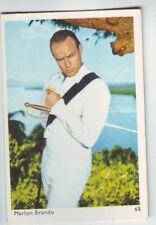 carte gum card portrait de Marlon Brando  numero 69 de la serie