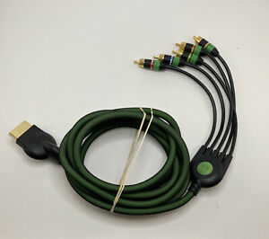 Monster Green Component Cable Original Xbox Game Link 10ft Rare Tested Works