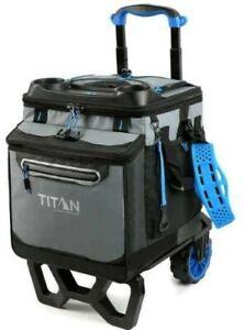 Titan 60 Can Cooler Artic Deep Freeze Rolling Cooler - High Performance Blue