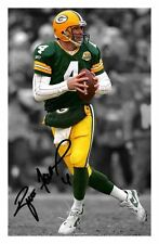 BRETT FAVRE - GREEN BAY PACKERS AUTOGRAPHED SIGNED A4 PP POSTER PHOTO