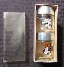 "Vintage Walt Disney World Mickey & Minnie Mouse Salt Pepper Shakers 2.5x2"" Vg+"