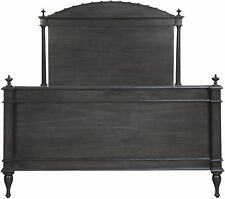 "87"" Bed King Solid Mahogany Pale Finish Traditional Carved Foot/Head Boards"