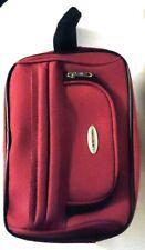 Samsonite Red Travel Toiletry Kit Bag Shaving, Make up, Cosmetics Nwt
