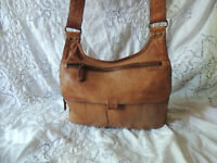 Fossil Brown Leather Crossbody Shoulder Bag Purse