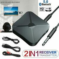 Bluetooth 5.0 Wireless Audio Aux Sender und Empfänger 2 IN 1 Adapter 3,5 mm DE