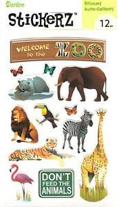 Stickerz Welcome to the ZOO 12p Stickers Planner School Kid Scrapbook 1214-38