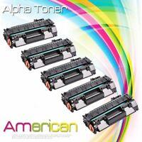 5 Pack CE505A 05A Laser Toner Cartridge For HP LaserJet P2035n P2055dn Printer