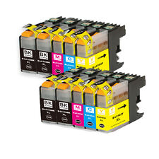 10 PK XL Ink Cartridge Set + smartchip for Brother LC101 LC103 J650DW J870DW