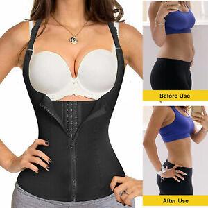 Women Sweat Sauna Vest Slimming Body Shaper Corset Neoprene Zipper Waist Trainer