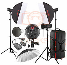 Studio Flash Lighting Kit - 1200w 3 x400w Head JINBEI Softbox Strobe Photography