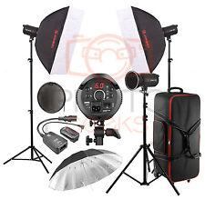 Studio Flash Lighting Kit - 1200w 3 x400w Head JINBEI Softbox Strobe Photography