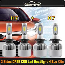 4Pcs Combo H7 + H7 LED Headlight Bulbs Kit SET High/Low Beam 400W 40000 LM TOTAL
