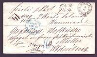 Vorphilabrief Bremen - Umschlag als Paketbegleitbrief + R-Zettel Oldenburg (408)