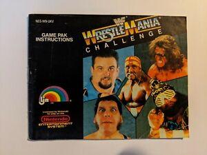 Nintendo NES Manual Wrestlemania Challenge