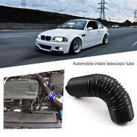 Universal 63mm 2.5in Black Flexible Car Telescopic Air Cleaner Intake Hose Tube