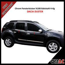 Dacia Duster Facelift Chrom Fensterleisten Blenden Edelstahl 4-tlg 2010 - 2018
