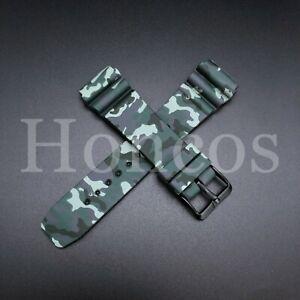 22 MM Silicone Rubber Watch Band Strap Fits Seiko Diver Camouflage SKX USA Camo