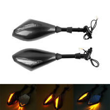 Carbon mirrors LED turn signals 10mm emark SUZUKI BANDIT gs400 sv gs 1250 abs