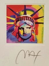 Peter Max signed Liberty Head VIII lithograph
