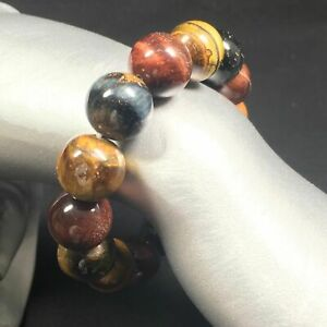 Natural Tiger's Eye Crystal Bead Men Women Lucky Charm Energy Crystal Healing A+