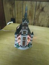 Dickens Collectables Porcelain Lighted Church Victorian Style 1998 Design