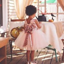 Mädchen Kinder Kleid Festkleid Prinzessin Tüll Tutu Spitze Festliches Hochzeit