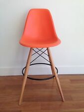 Eames Reproduction Bar Stool Orange Perfect Condition
