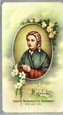 181 S. Bernadette - Sainte Bernadette Soubirous  Santino  Holycard --2