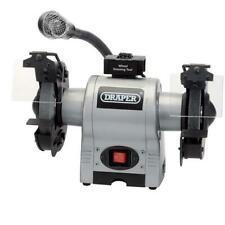 "Draper 6"" 370W Bench Grinder With Work Light"