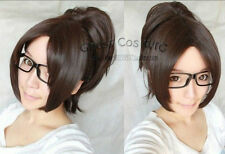 Attack on Titan/Hanji Zoe Dark Brown Cosplay Wig With Clip On Ponytail   A59
