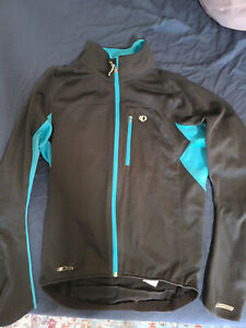 Pearl Izumi Jacket - Wind/Water Resistant - Mens Medium - Black/Blue