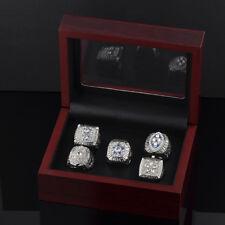 5 Rings/Set 1971 1977 1992 1993 1995 Dallas Cowboys Championship Rings with Box