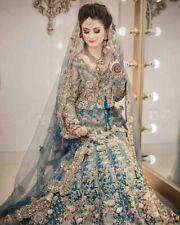Indian Pakistani amazing stunning embroidered Lengha walima bridal heavy dress