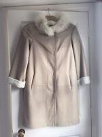 Giorgio Armani Sheepskin  Shearling Leather With Fur Coat EU 38 NEW RRP €4000